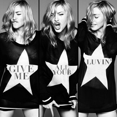 givemeallyourluvin single cover news Sneak Peek: Madonna   Give Me All Your Luvin (Ft MIA & Nicki Minaj)