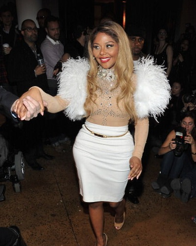 kimblonds1 Hot Shots: Lil Kim Glows At Blondes Fashion Show