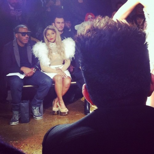 lil kim fierce e1329386854480 Hot Shots: Lil Kim Glows At Blondes Fashion Show