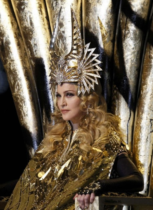 madonna 123 e1328557208526 Madonna Super Bowl Show Scores Higher Rating Than Game Itself