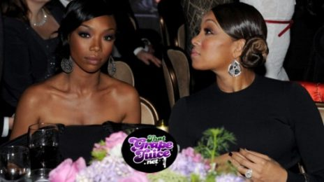 Brandy & Monica Mourn Whitney Houston At Clive Davis Pre-Grammy Gala
