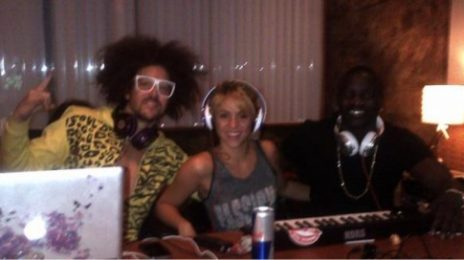 Hot Shot: Shakira Hits Studio With RedOne, Akon & ...LMFAO