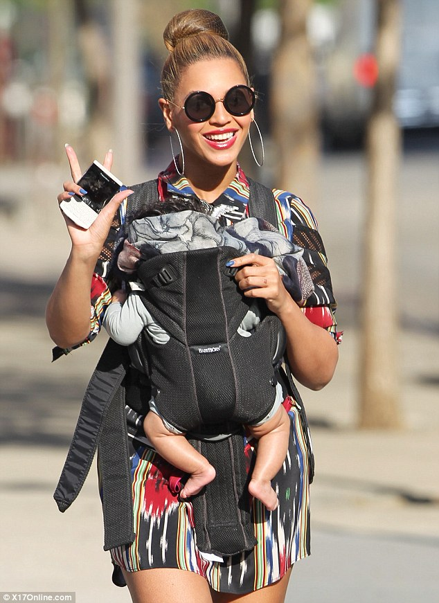 Beyonce and Blue Get Fresh In NYC