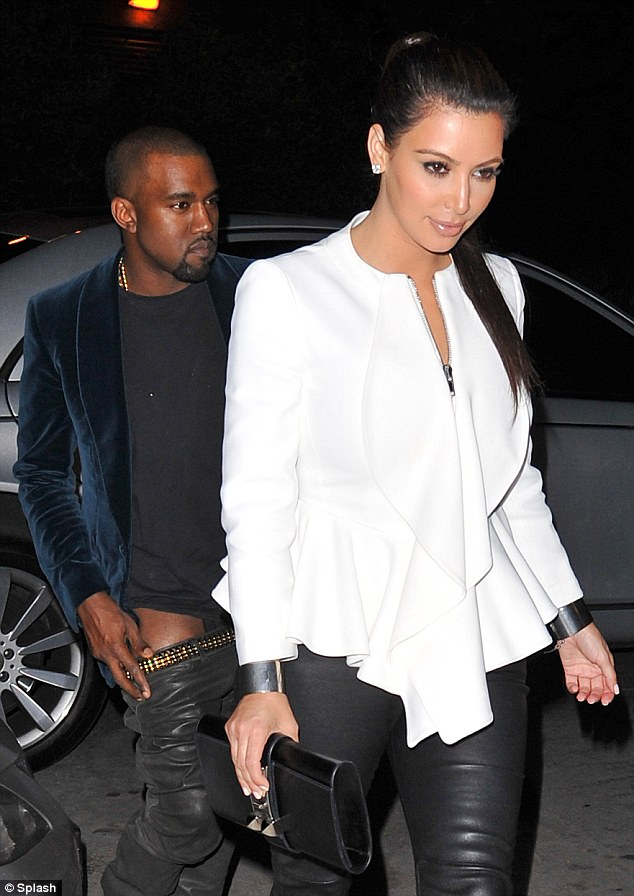 Kanye and Kim Trousers Down Hot Shots: Kanye West Caught With Trousers Down
