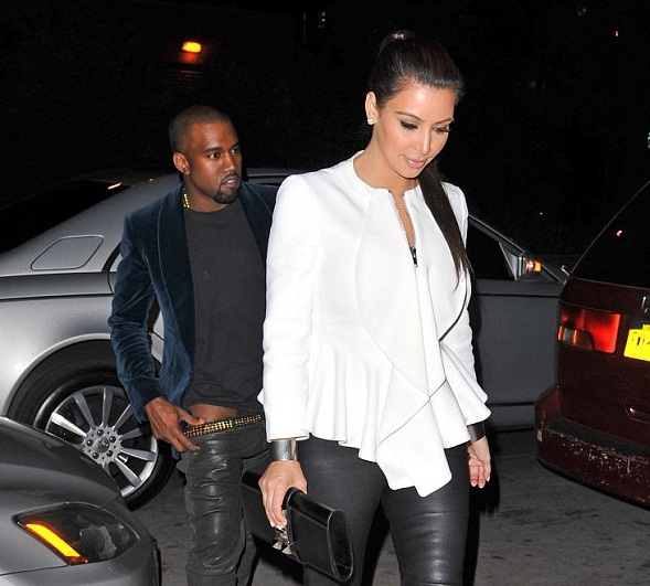 Kanye and Kim trousers down 11 Hot Shots: Kanye West Caught With Trousers Down