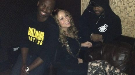 Hot Shots: Mariah Carey In Recording Studio With Jermaine Dupri