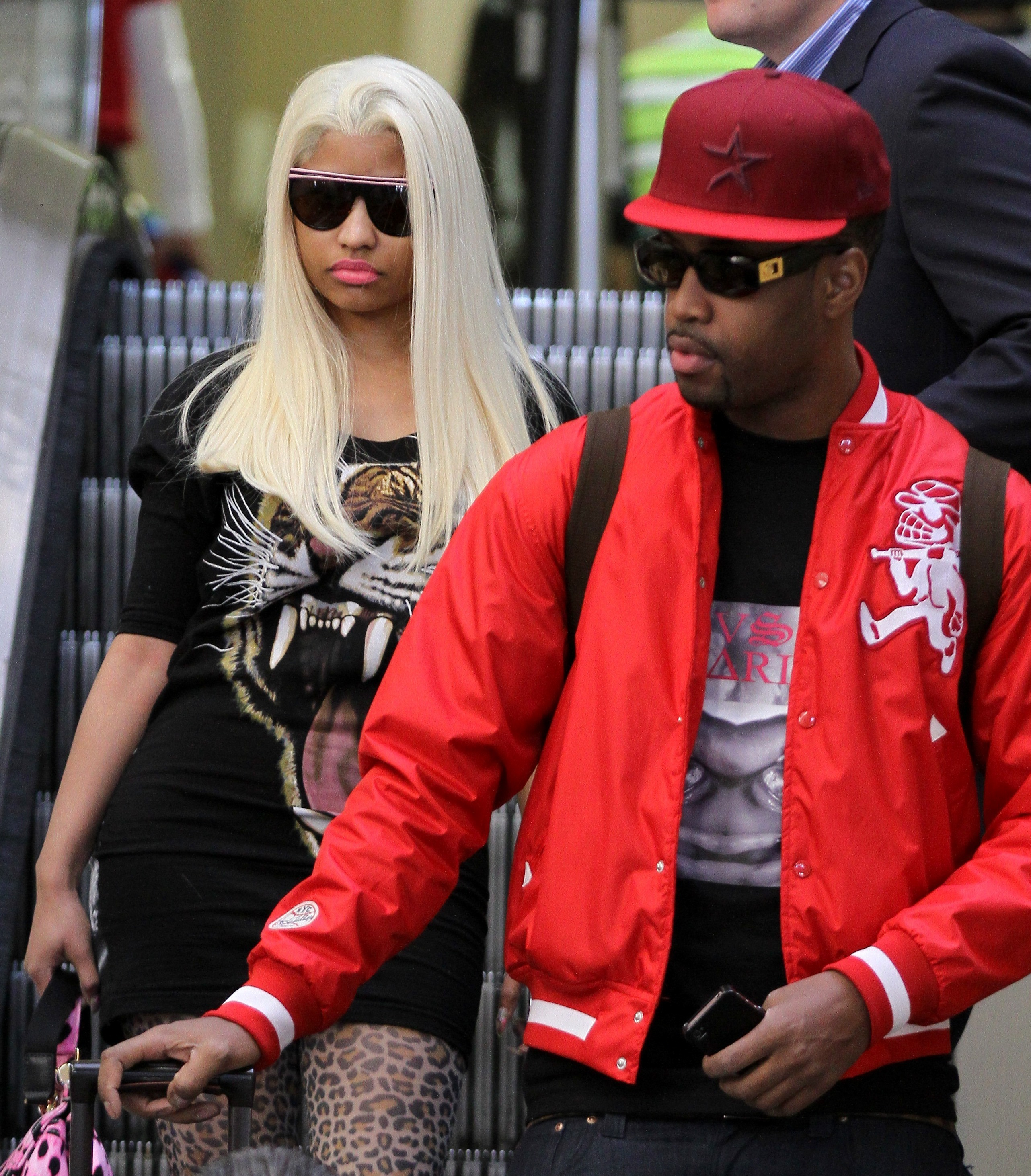 NICKI MINAJ AND BEST FRIEND AT LAX Hot Shots: Nicki Minaj Gets Shady In LAX