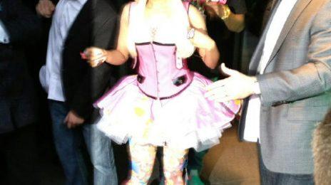 Hot Shot: Nicki Minaj Stuns Brit Press With Pink Get Up