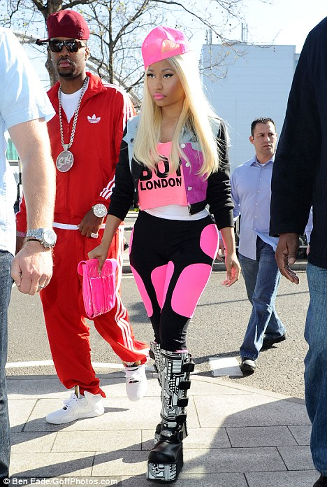 Nicki Minaj Leaves London Hot Shots: Nicki Minaj Gets Inter Galactic In London
