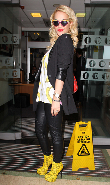 Rita Ora Goes Bananas In London