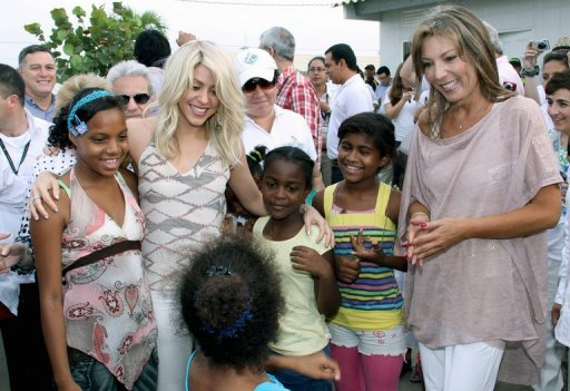 Shakira Launches Million Dollar School Project TGJ Hot Shot: Shakira Launches Million Dollar School Project