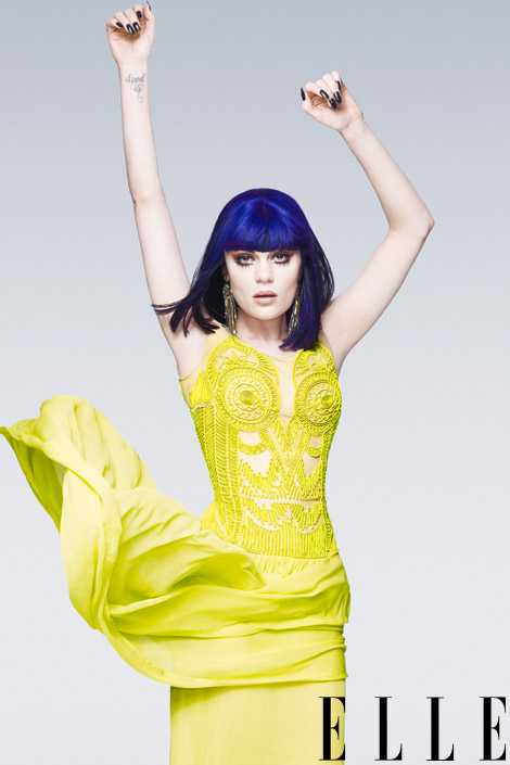 jesse elle fierce Hot Shots: Jessie J Serves Up Fierce Colour Burst For Elle
