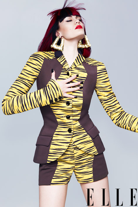 jessie j elle 4 Hot Shots: Jessie J Serves Up Fierce Colour Burst For Elle