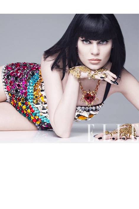 jessie j elle 8 Hot Shots: Jessie J Serves Up Fierce Colour Burst For Elle