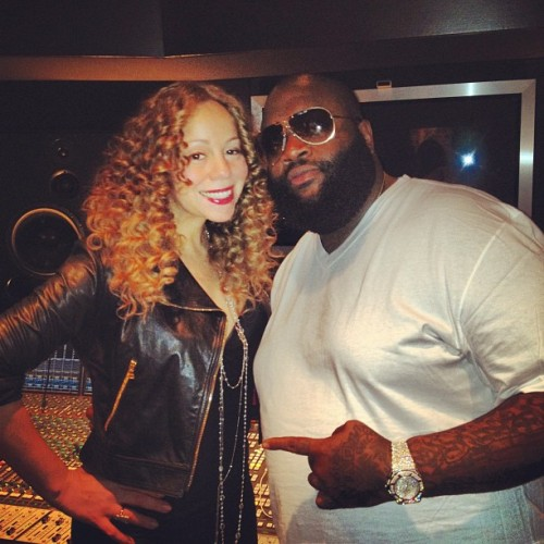 mariah carey 88 e1335344326392 Hot Shot: Mariah Carey Hits Studio With Rick Ross
