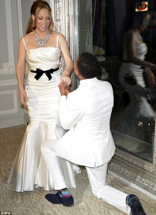 Mariah carey wedding dress to nick cannon