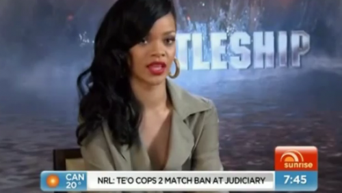 rihanna 78 e1334217659599 Drama: Rihanna Cuts Short Interview On Australias Sunrise