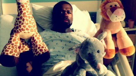 Hot Shots:  50 Cent Shares Hospital Photos