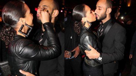 Hot Shots: Alicia Keys Locks Lips With Swizz Beatz At Charity Event