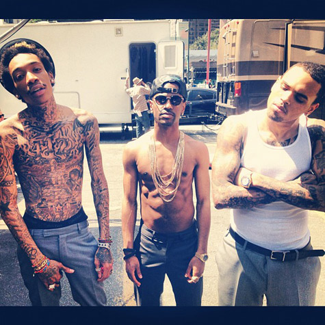chris brown big sean wiz Hot Shots: Chris Brown, Big Sean, & Wiz Khalifa Strip Off For Till I Die Video