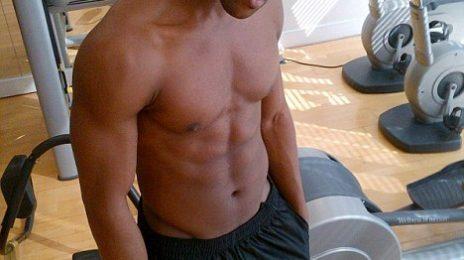 Hot Shot: JLS' Oritse Strips Off