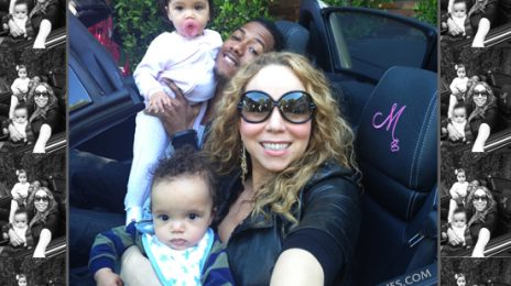 Hot Shot: Mariah & Nick Pose With 'Dem Babies'