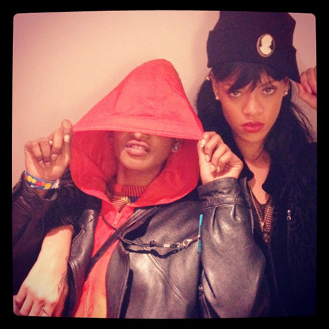 mia rihanna 2 Hot Shot: Rihanna Strikes A Pose With MIA / Watches Battleship Sink