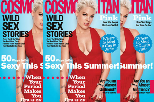 pink cosmopolitan june 12 Pink Talks Music & Motherhood With Cosmopolitan