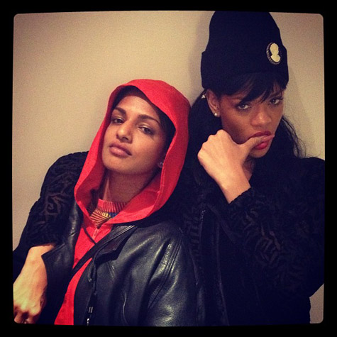 rihanna mia Hot Shot: Rihanna Strikes A Pose With MIA / Watches Battleship Sink