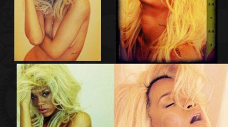 Hot Shots: Rihanna Strips For Fragrance Ad
