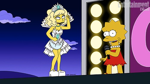 simpsons lady gaga 510 Hot Shots: Lady Gaga Gets Animated For FOX