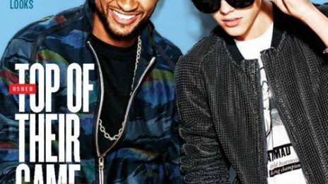 Behind the Scenes:  Usher & Justin Bieber Beam for Billboard