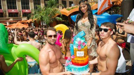 Watch:  Nicole Scherzinger Makes a Splash At Early Birthday Bash