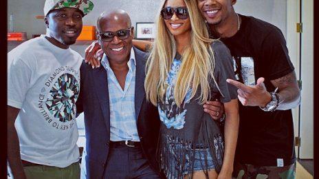 Hot Shot: Ciara Strikes A Pose With LA Reid & Da Internz