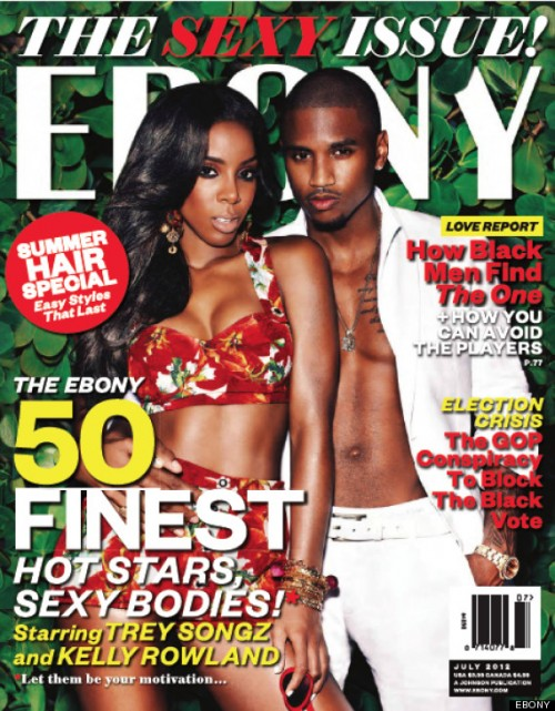 Ebony Magazine Summer Sexy Issue Trey Songz and Kelly Rowland e1338562454112 Hot Shot: Kelly Rowland Sizzles On EBONY Cover...With Trey Songz