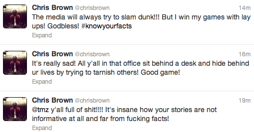 chris brown tmz tweets Twitter Chaos: Chris Brown Slams TMZ