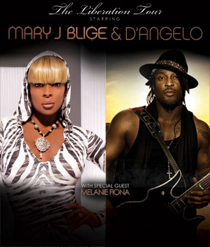 MARY AND DANGELO LIBERATION TOUR Mary J. Blige And DAngelo Release Liberation Tour Dates