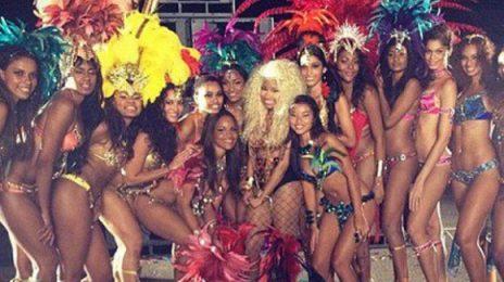 Watch: Nicki Minaj Shoots 'Pound The Alarm' Music Video