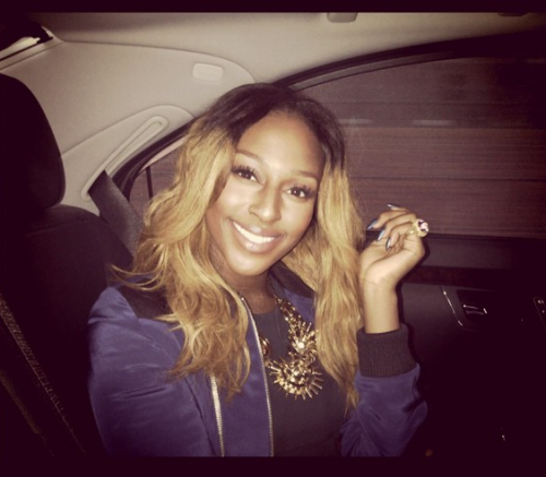 alexandra  e1342350006144 Hot Shot: Alexandra Burke Reveals New Blonde Do