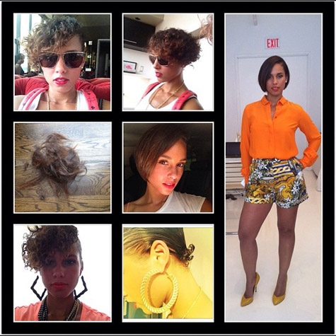 alicia new hair Hot Shot: Alicia Keys Debuts New Short Do