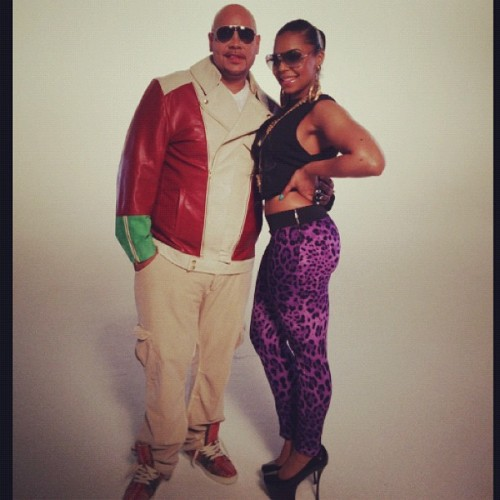ashanti 980 e1343654625186 Hot Shots: Ashanti Shoots Video With...Fat Joe