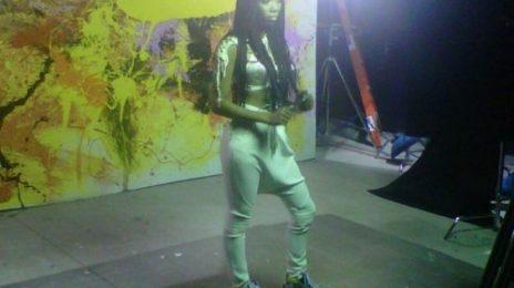 Hot Shots: Brandy & Chris Brown Shoot 'Put It Down' Video