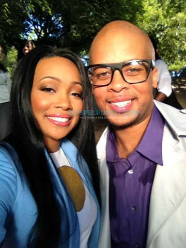 jf holdon11 Hot Shots:  Monica Makes Moves With Gospel Singer James Fortune