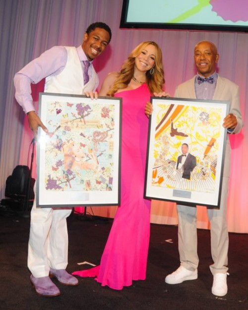 mariah e1343597351254 Hot Shots: Mariah & More Dazzle At Art For Life Gala