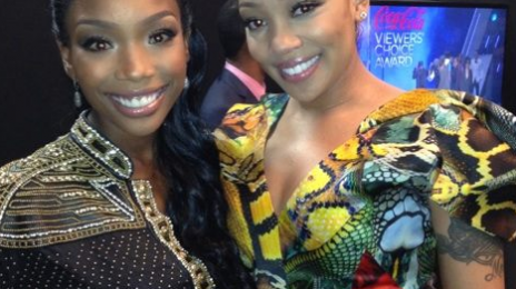 Hot Shot:  Monica and Brandy Share Snaps From Backstage of BET Awards