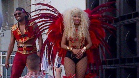 Hot Shot: Nicki Minaj Shoots 'Pound The Alarm' Video In Trinidad