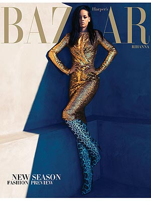 rihanna harpers 2 Must See: Rihanna Covers Harpers Bazaar / Opens Up On Chris Brown Heartbreak