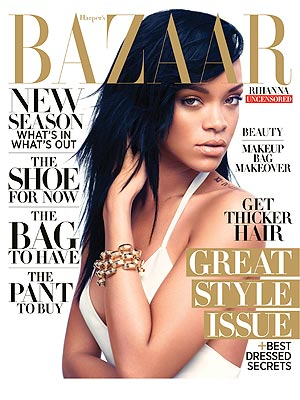 rihanna harpers bazaar Must See: Rihanna Covers Harpers Bazaar / Opens Up On Chris Brown Heartbreak