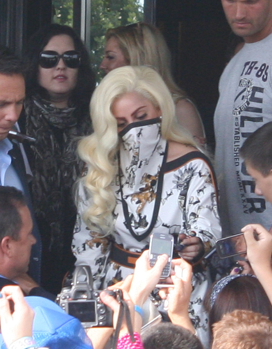LADY GAGA ARRIVES IN BULGARIA FOR BORN THIS WAY BALL 2 Hot Shots: Lady GaGa Arrives In Bulgaria For Born This Way Ball