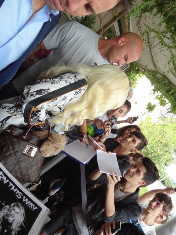 LADY GAGA ARRIVES IN BULGARIA FOR BORN THIS WAY BALL 3 Hot Shots: Lady GaGa Arrives In Bulgaria For Born This Way Ball